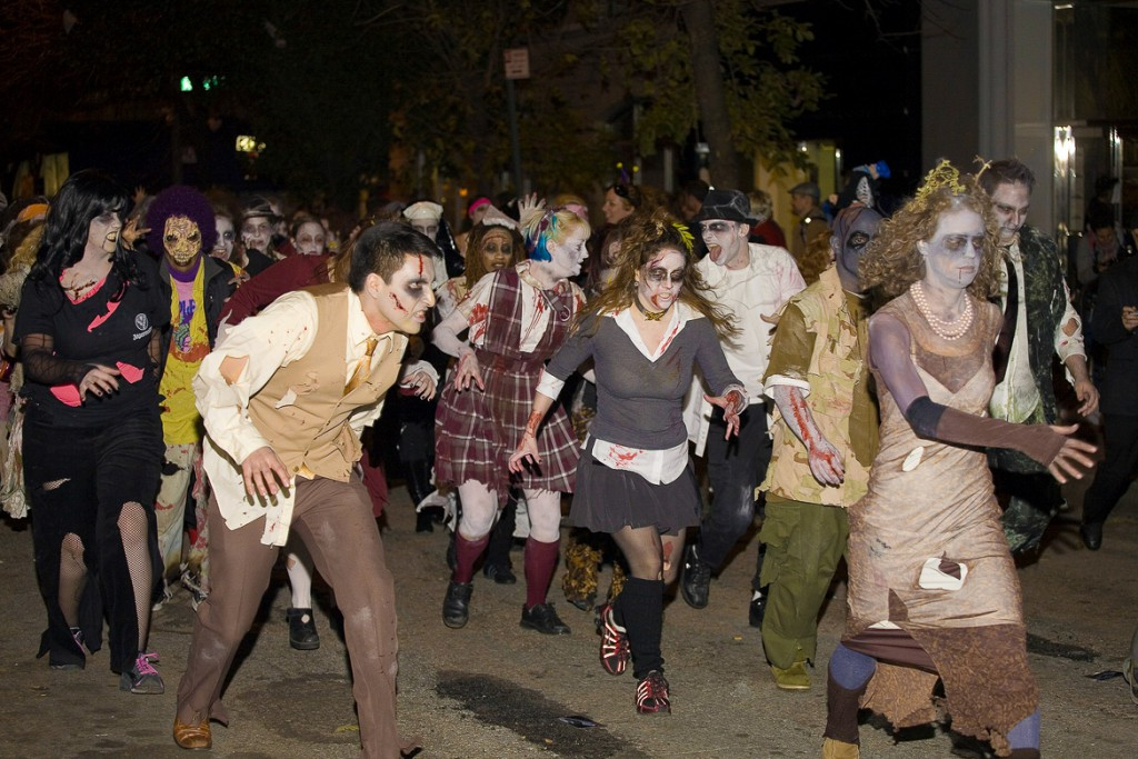 the Village's annual Halloween Parade in NYC Greenwhich Village NYC. Photographed October 31st 2008.